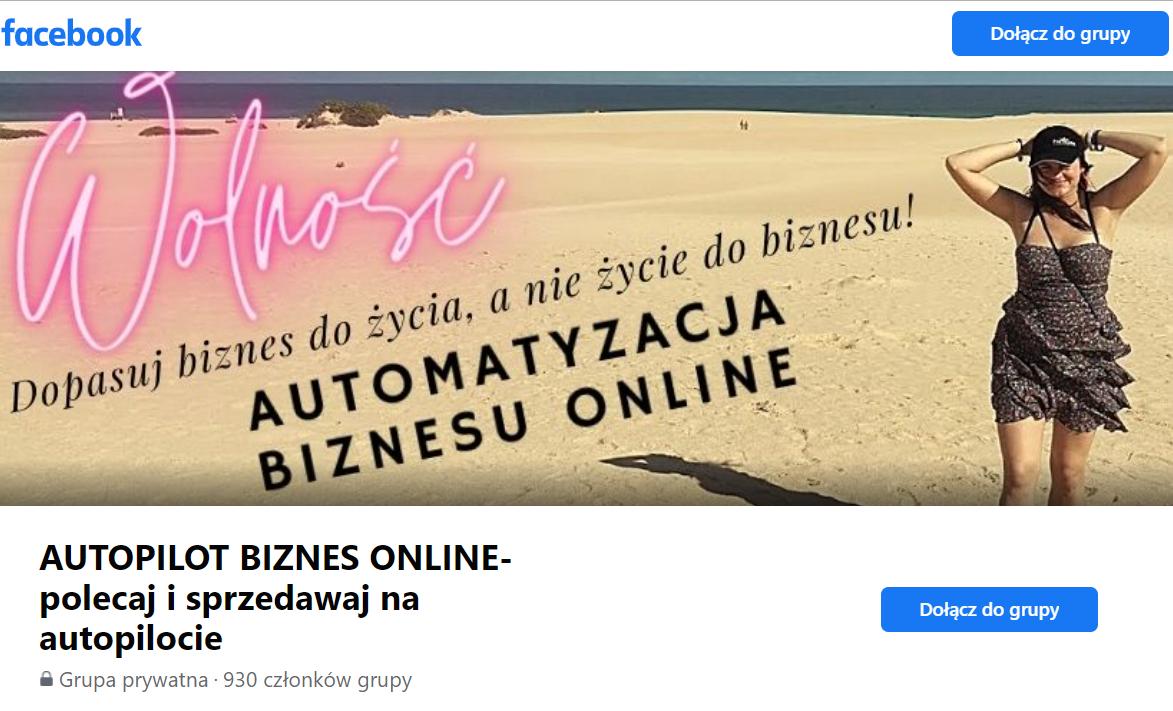 Joanna Sitarz grupa na FB automatyzacja binzesu online